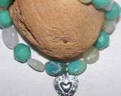 Opal Bracelet - light blue to soft green