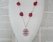 Red Necklace -  Red Turquoise Nuggets - Holy Spirit