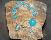 Turquoise Bracelet - Ladder Rosary
