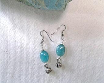 Blue dangle earrings - tribal bells