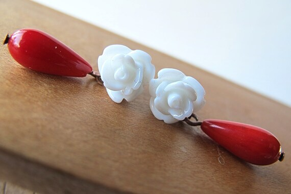 snow white rose drops