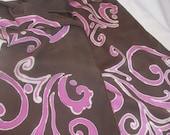 "Pink swirls 14"" X 72""  silk charmeuse"
