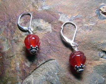 Orange Orb Earrings