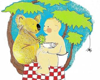 Baby and Koala onesie