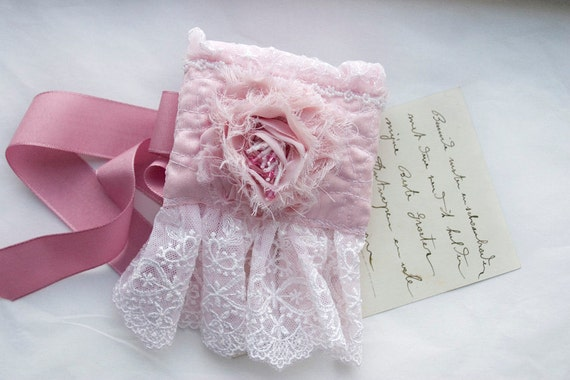 Lace Pink Cuffs, powder pink, rose and ribbon wrist wraps, pretty in pink, Alice in wonderland cuffs