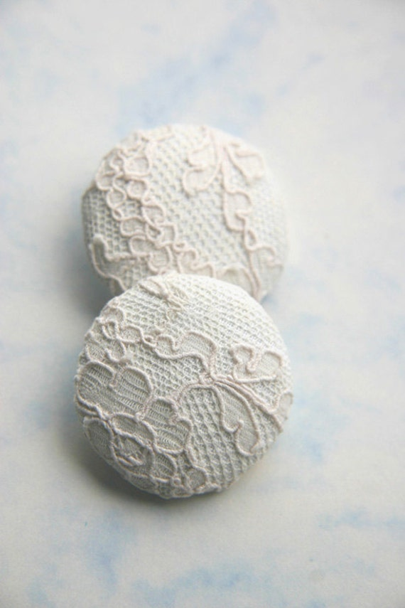 1920's Antique Lace Covered Buttons