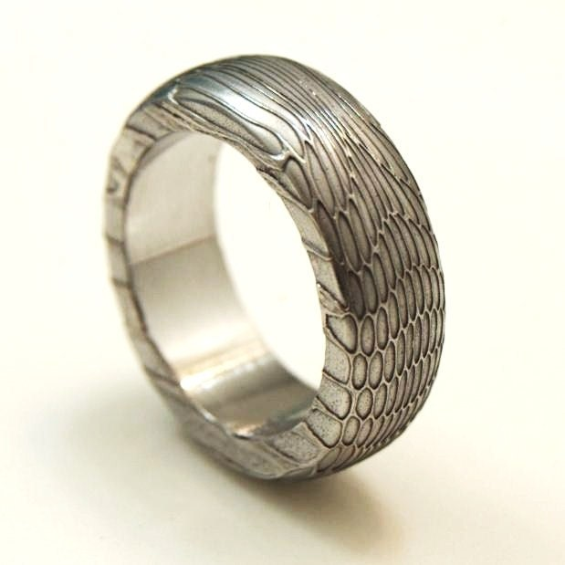 Damascus Steel Wedding Ring