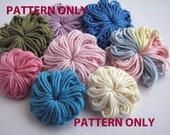 Crochet Flower Pattern - Two Different Small Flowers - Buttons & Swirls - Instant Download