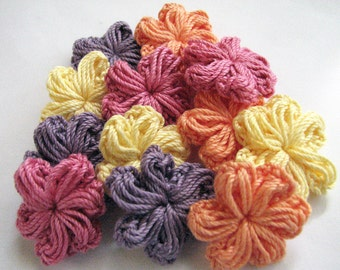 Crochet Flowers - Spring Colors - 12
