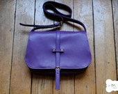 "purple leather handbag ""Paulette"""