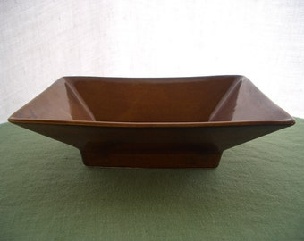 Vintage Pottery Planter in Brown
