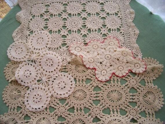 Vintage Doilies 4 Piece Assortment Circle Patterns