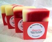 Hawaiian Plumeria Natural Olive Oil/Hemp Soap - Organic Ingredients