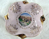 Vintage 1960s Hand Painted Souvenir Ashtray of the Grand Canyon