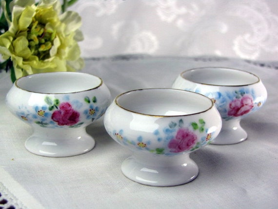 Vintage Porcelain Salt Dishes from Czechoslovakia - Set of Three