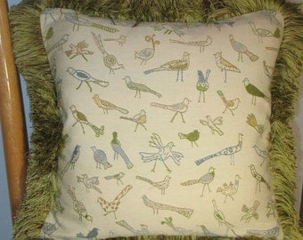 BIRDS ON PARADE, Fashion Accent Pillow