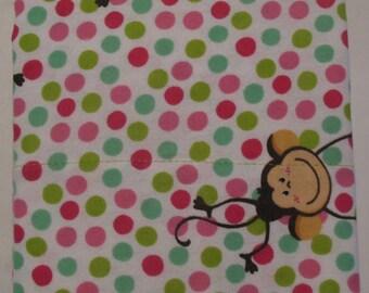 Flannel Pillowcase MONKEY PALOOZA