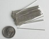 50 Argentium Sterling Silver Headpins 21 Gauge 1.5 Inch
