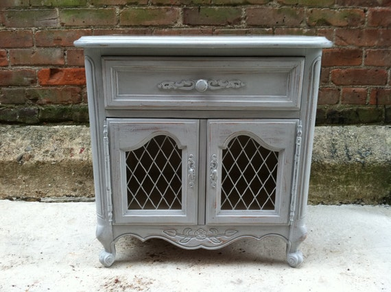 Shabby Chic Painted End Tables Grey Painted End Table