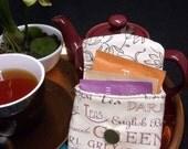 Tea Bag Travel Wallet - Cream Tea, Tea Lover Gift, Free Shipping - USA, Ships Worldwide