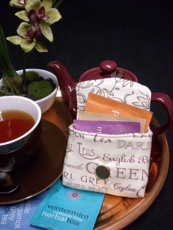 Tea Bag Travel Wallet - Cream Tea