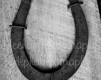 Alphabetography letter U - aphabet letter photo
