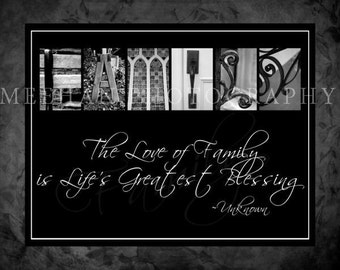 Family alphabetography collage 8x10