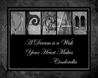 Dream alphabetography collage 8x10