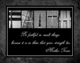Faith alphabetography collage 8x10