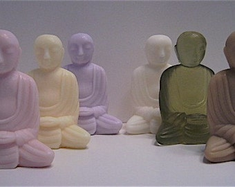 Buddha Monk Meditating Bath Soaps - 6 Colors and Scents