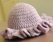 Crocheted Baby Hat with Ruffle Brim
