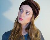 Velvet turban headband NEW - Brown color FREE SHIPPING
