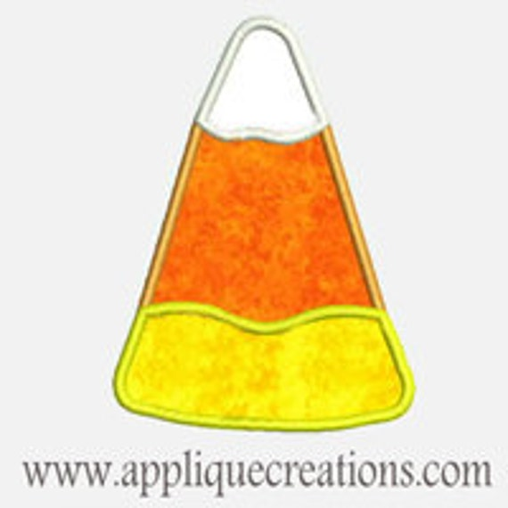 Candy Corn...Embroidery Applique Design...Three sizes for multiple hoops...Item1238.