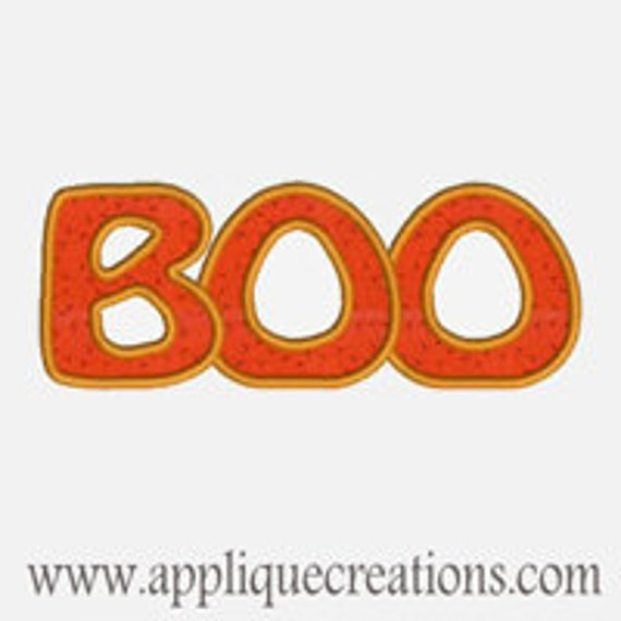 BOO ...Embroidery Applique Design...Three sizes for multiple hoops...Item1277.