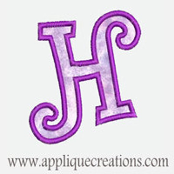 Alphabet A-Z Font33...Embroidery Applique Design...Three sizes for multiple hoops...Item1309.