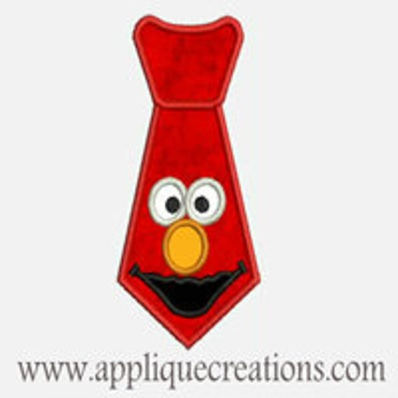 Emo Face Tie...Embroidery Applique Design...Three sizes for multiple hoops...Item1460.