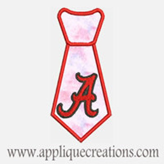 A Tie...Embroidery Applique Design...Three sizes for multiple hoops...Item1518.