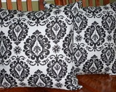 Decorative Throw Pillow Covers - Black and White18 Inch