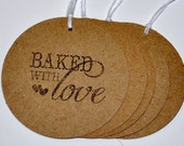 """Set of """"Baked with Love"""" Gift Tags"""