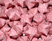 SALE Pink With White Polka Dots Lucky Stars