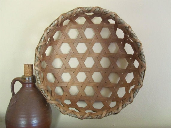 Shaker Cheese Basket Primitive Reproduction Handwoven