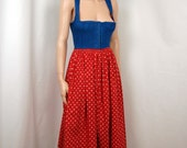 50's 60's LANZ Dirndle 4th Of July Dress