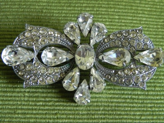 Reserved for Kelly4306 Austrian Crystal Brooch