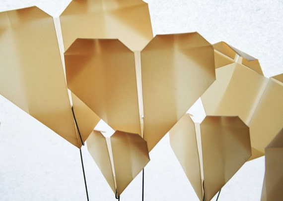 Cream Hearts Translucent Origami Bouquet - Flower Bouquet