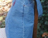 20% OFF Bright Eyes Blue Denim-OVERNIGHT bag, purse or tote- repurposed