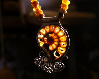 Ammonite Fossil Necklace 01
