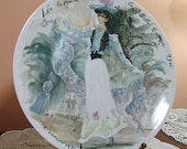 Vintage Porcelain Limoges Plate IV, Lea, The Woman Flower Of The Beautiful Era, 1900.