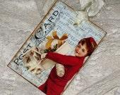 Vintage Music Sheet Post Card Gift Tag ATC Christmas