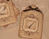 Wedding Table Numbers, Vintage Style French Script Elegant Design Luxury Table Number/Name Tags Wedding Original Design ECS
