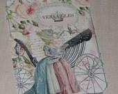 Vintage Style Elegant Marie Antoinette Versailles Paris Gift Tag with Seam binding
